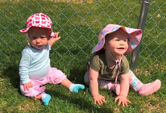 babies enjoying the sun at a Preschool & Daycare Serving Brighton, MI
