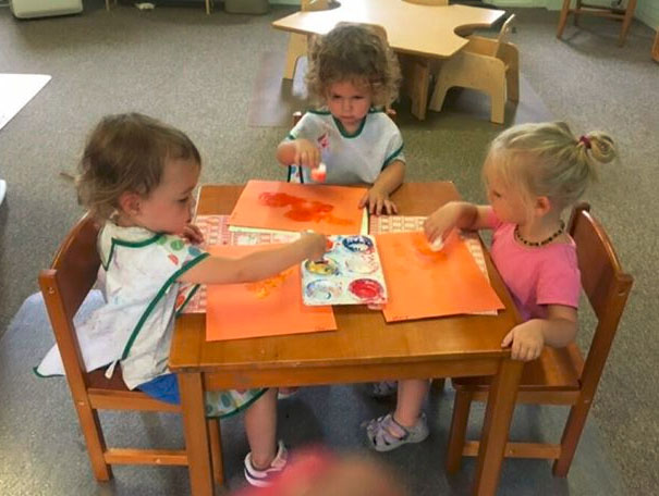 toddlers in classroom learning at a Preschool & Daycare Serving Brighton, MI